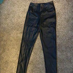 Black Leather Pants/leggings